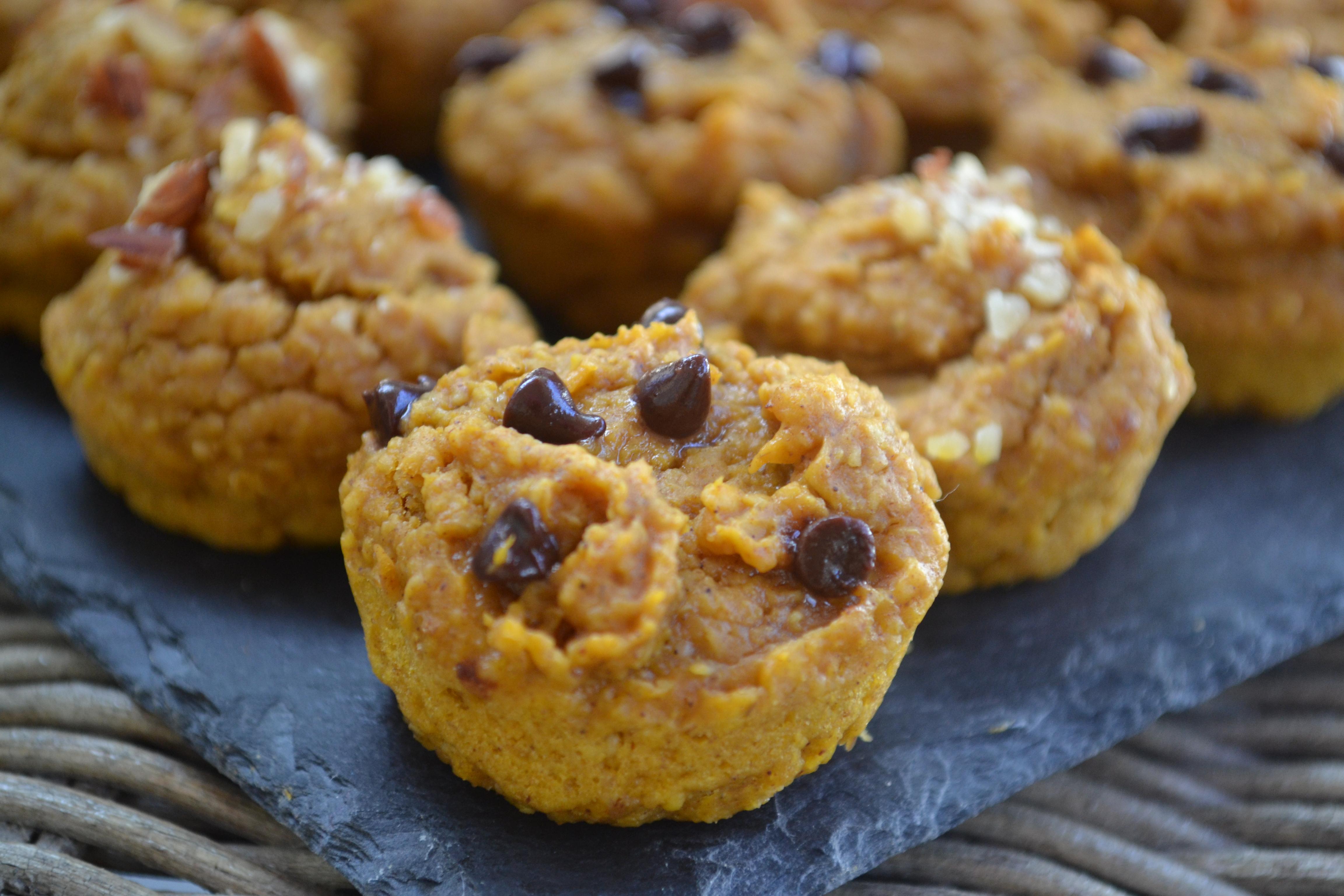 Sweetpotato Pumpkin Nut Muffins [GF, DF, V] - Fresh Fit N Healthy